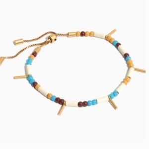Madewell Mixed Bead Stretch Bracelet in Blue